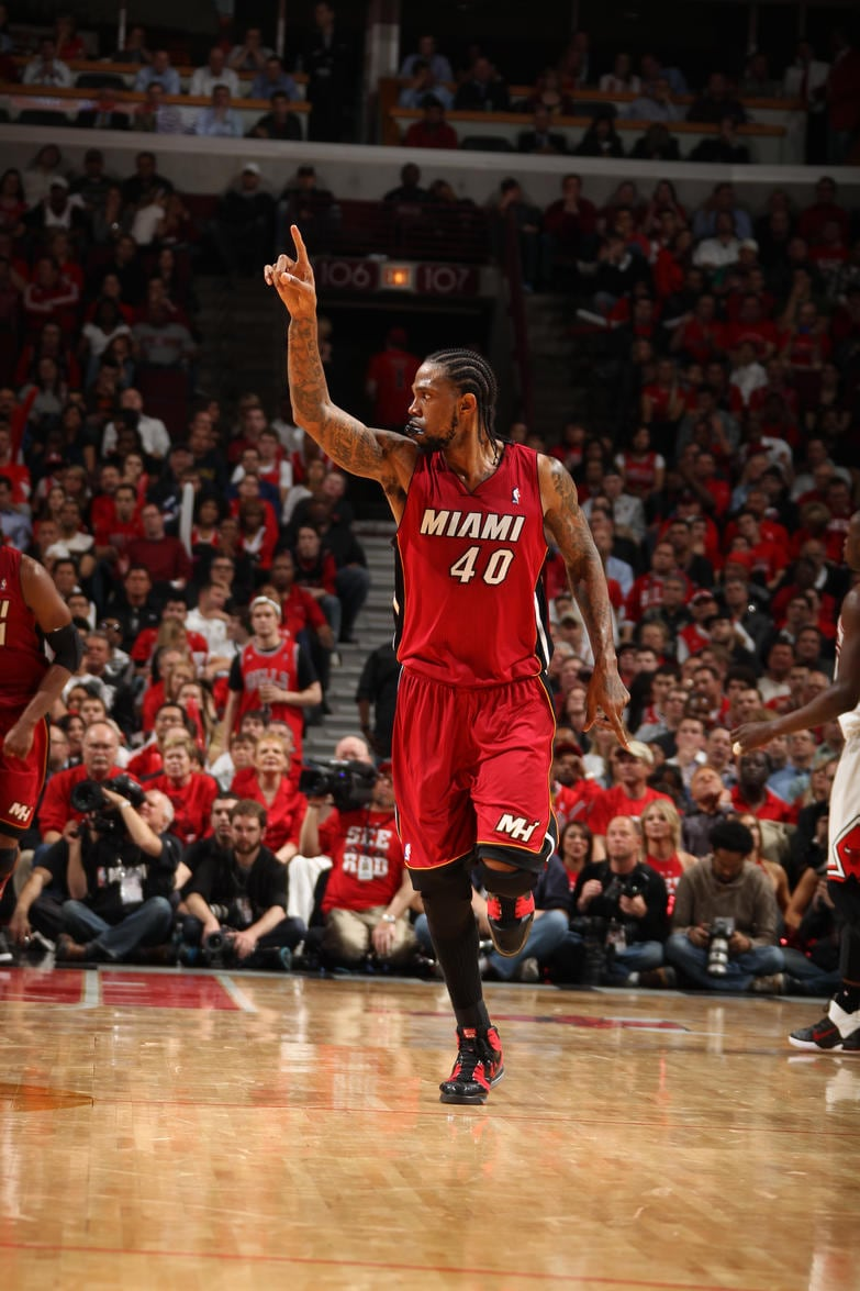 UDONIS HASLEM THROUGH THE YEARS MIAMI HEAT