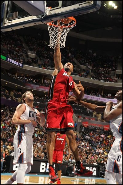 Rashard Lewis takes a shot against the Charlotte Bobcats