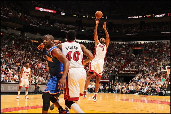 Rashard Lewis takes a shot against the New York Knicks