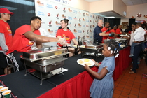 The Miami HEAT and sponsors get together to share a Thanksgiving Celebration with the community.