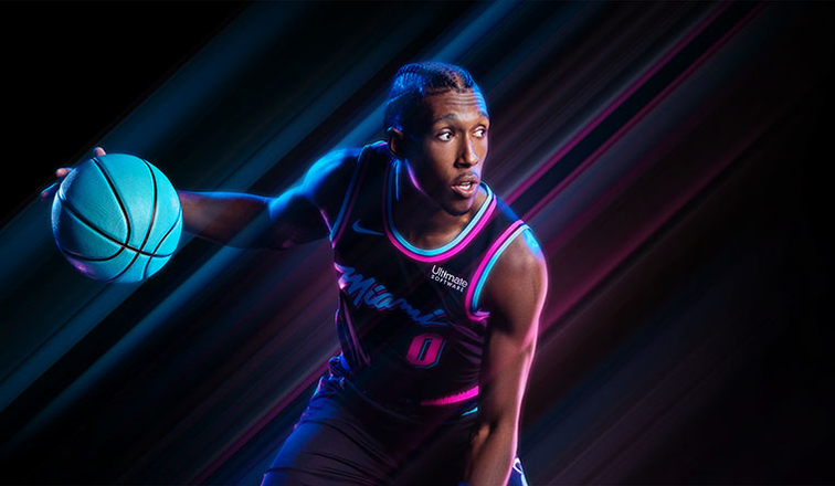 "EL HEAT PRESENTA EL UNIFORME ""VICE NIGHTS""  d1776c690"