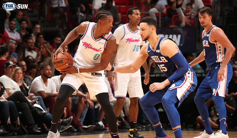 Whiteside scores 26 to lead Heat over Sixers