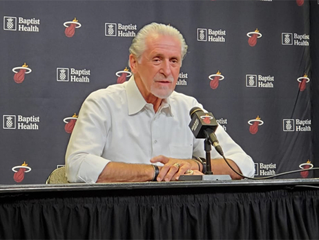 "Pat Riley: ""[Herro] Is A Perfect Pick For Us"""