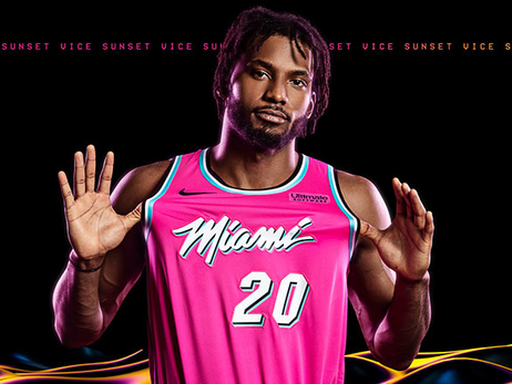 Justise Winslow wearing Sunset Vice Jersey