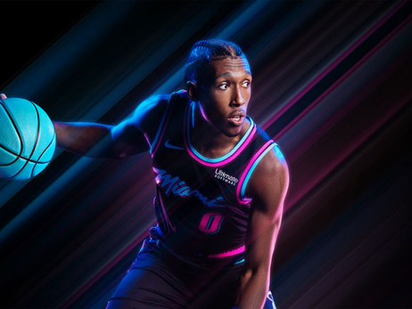 Josh Richardson wearing Vice Nights uniform