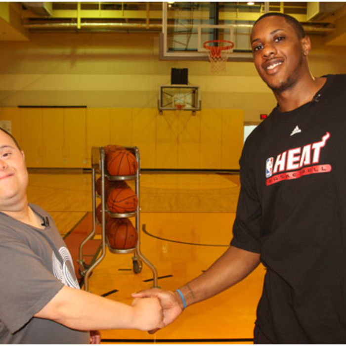 6-12-09 Mario Chalmers & Best Buddies