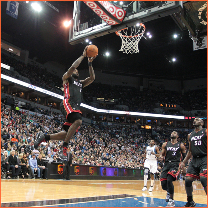 2010-11 Game Gallery: April 1, HEAT @ Wolves