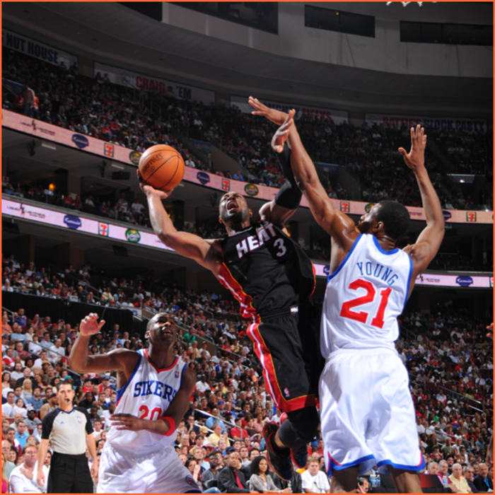2010-11 Game Gallery: April 24, HEAT @ 76ers