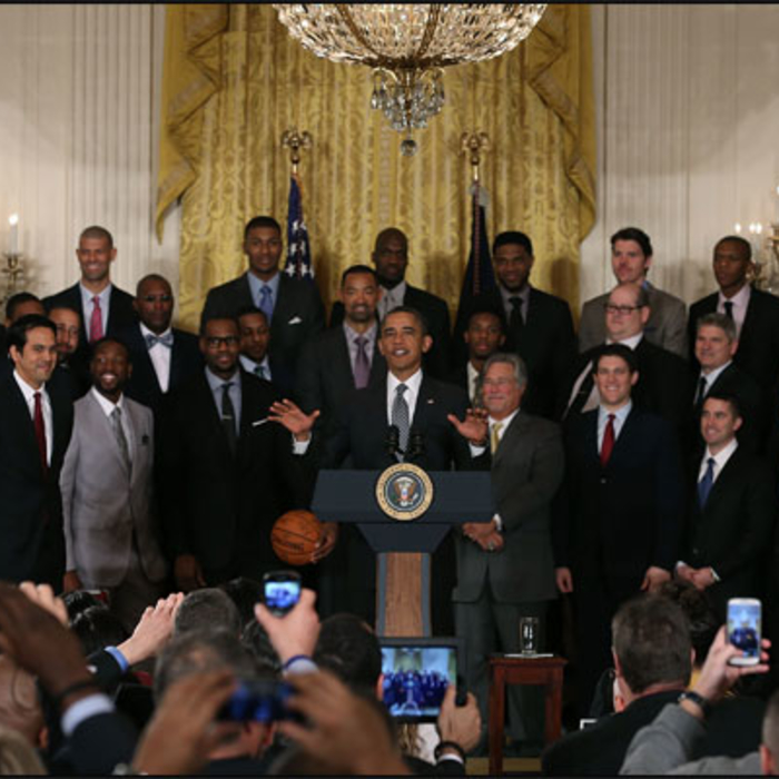 HEAT Visit the White House 2013