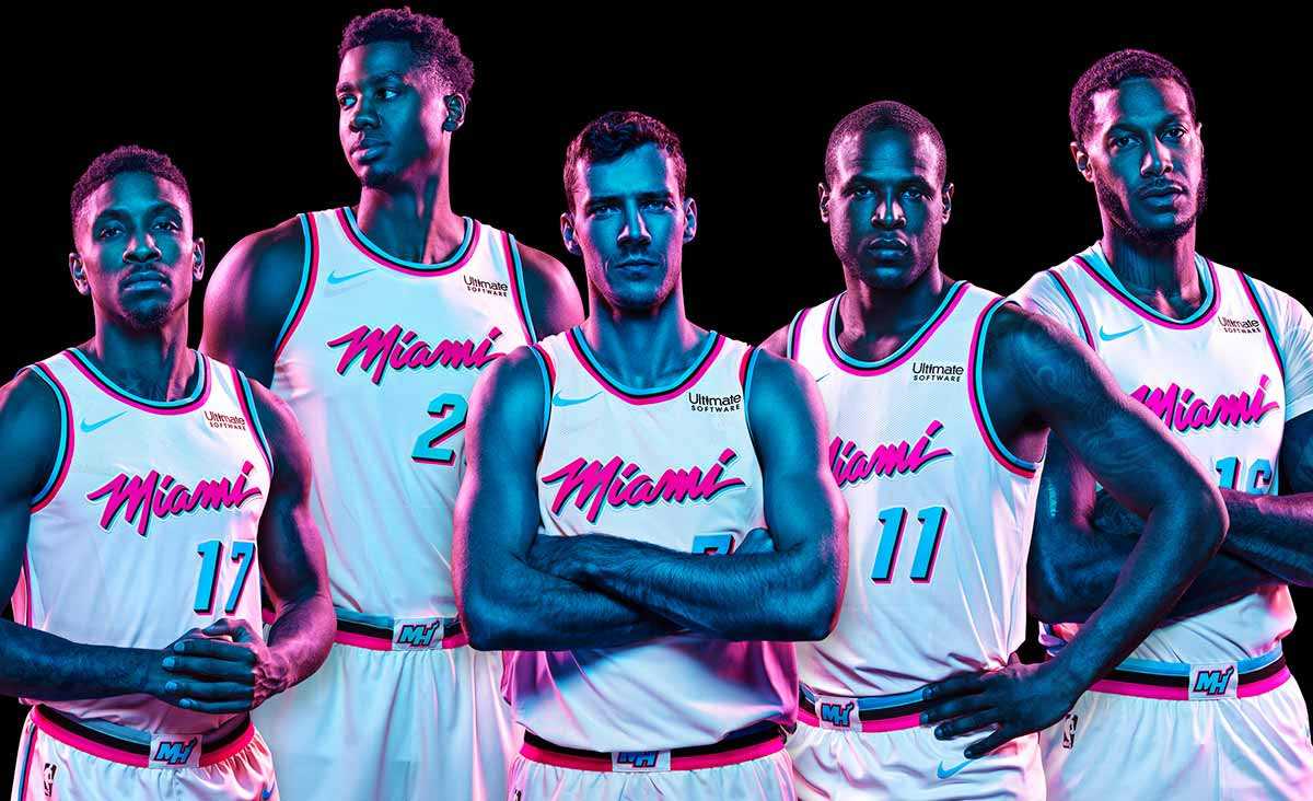 Heat To Unveil Vice Uniforms Miami Heat
