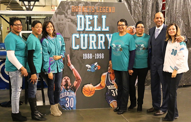 Hornets Legend Dell Curry 12 2 15 Charlotte Hornets