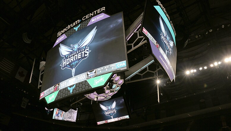Charlotte Hornets Unveil New State Of The Art Scoreboard