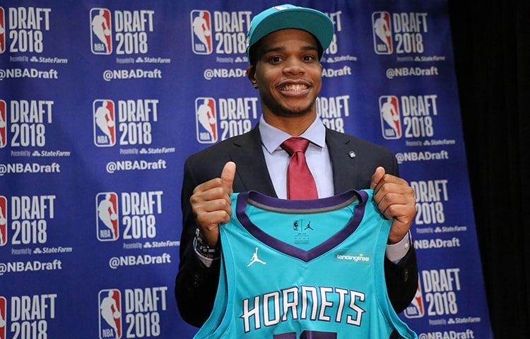 e576f7233208 Miles Bridges ran through the media gambit after being acquired by the  Charlotte Hornets on June