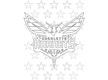 Hornets Coloring Pages   Charlotte Hornets