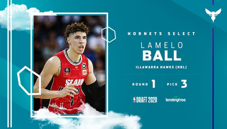 Hornets Select LaMelo Ball with 3rd Overall Pick in 2020 NBA Draft |  Charlotte Hornets
