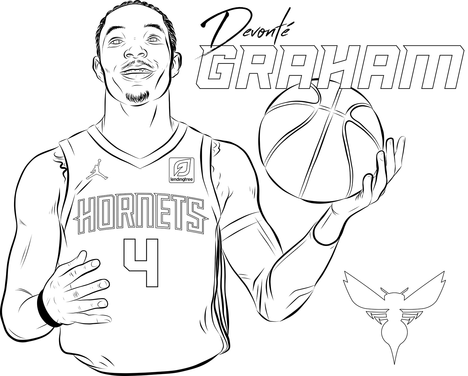 - Hornets Coloring Pages Charlotte Hornets