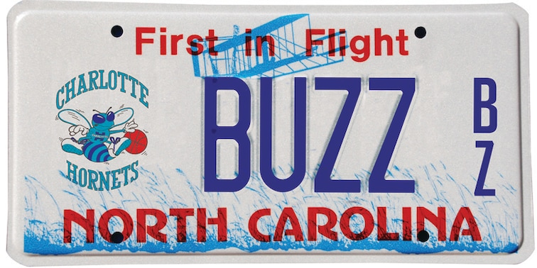 Special Edition Hornets Branded NC License Plates