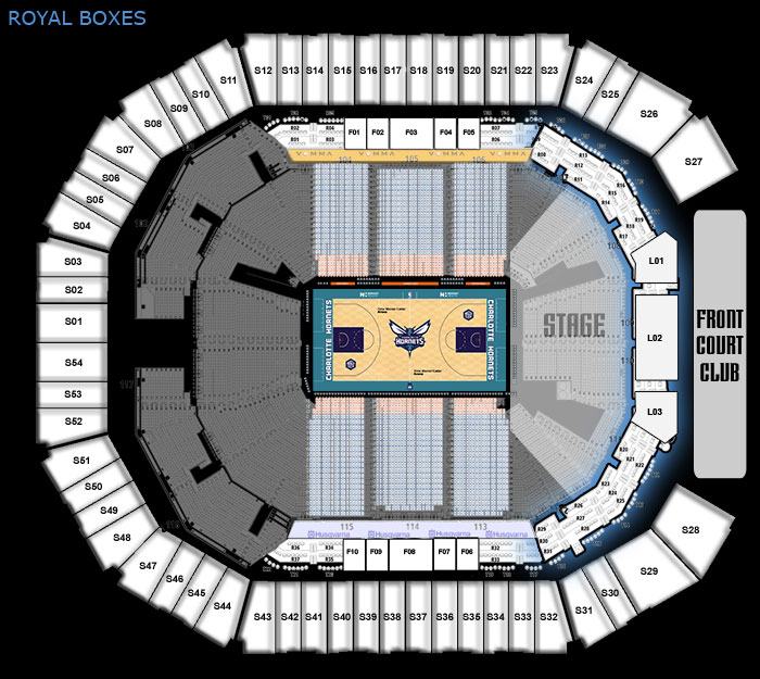 luxury suites premium seats seating maps charlotte hornets. Black Bedroom Furniture Sets. Home Design Ideas