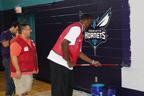 Hornets and Lowe's Rebrand Marsh Road Boys & Girls Club - 9/23/14