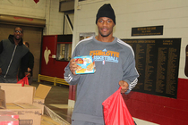 Players Volunteer at Second Harvest Food Bank - 1/13/14 - 1