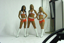 NBA.com - 2008-09 Lady Cats Photo Shoot - Behind the Scenes