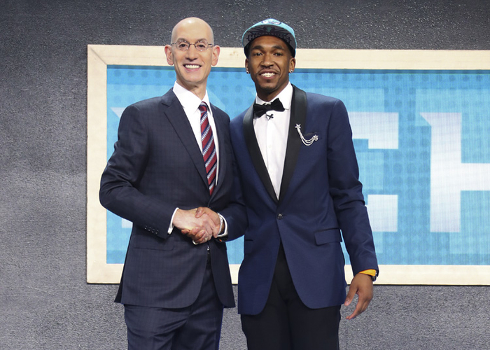 Image result for charlotte hornets nba draft night monk