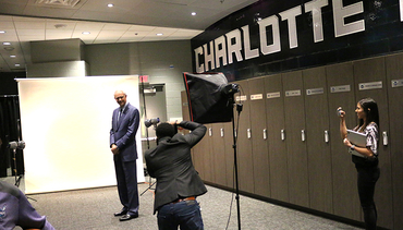 Mitch Kupchak Meets the Media, Staff in Charlotte