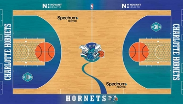 Hornets Unveil Design of Classic Court
