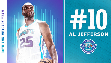Jefferson Named 10th on Hornets 30th Anniversary Team