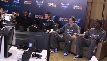 Video: Hornets Play NBA2K Online