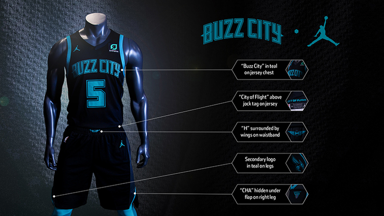 "Hornets Unveil 2018-19 City Edition Uniforms. Black Jersey Continues To  Feature ""Buzz ... 4c994bf3f"