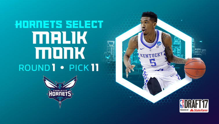 Hornets Select Malik Monk with 11th Pick in 2017 NBA Draft ... 574b66c86