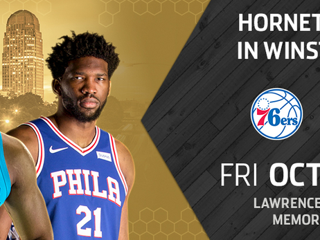 Hornets To Play 76ers In Preseason Game At Lawrence Joel Veterans Memorial Coliseum In Winston-Salem, NC, On October 11