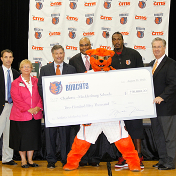 Gallery - Bobcats Make Donation to CMS Middle Schools