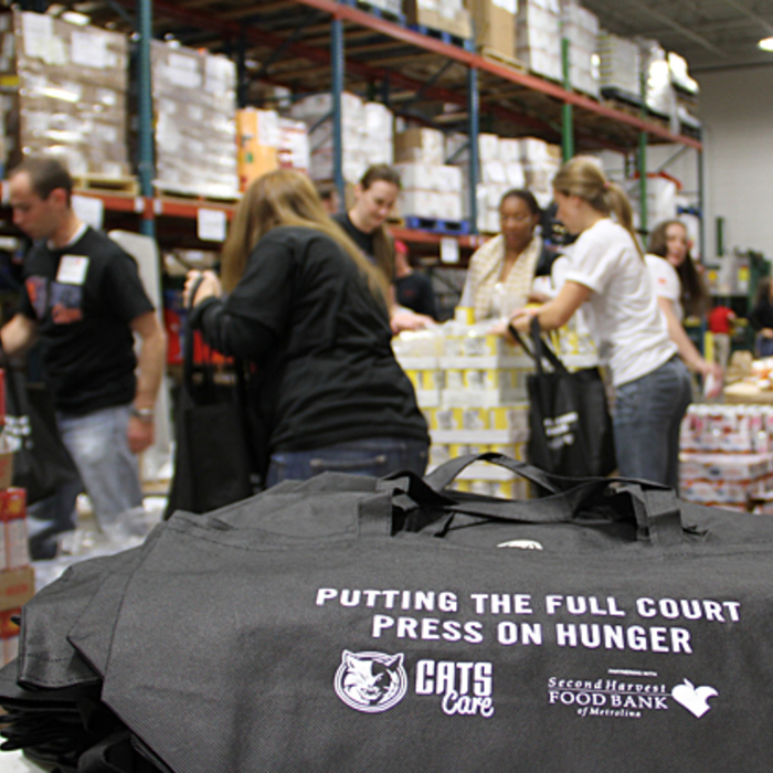 Cats Care Cornucopia Bags Packed at Second Harvest