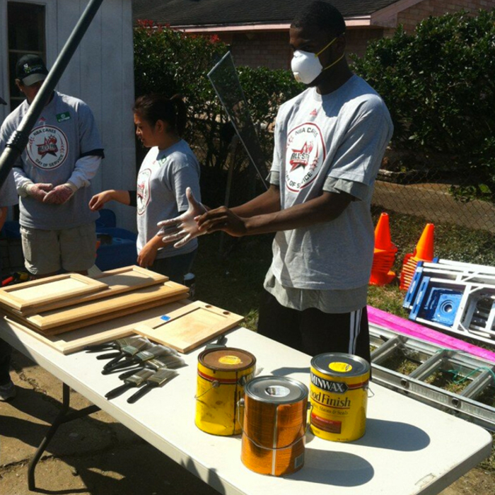 Cats at All-Star NBA Cares Day of Service