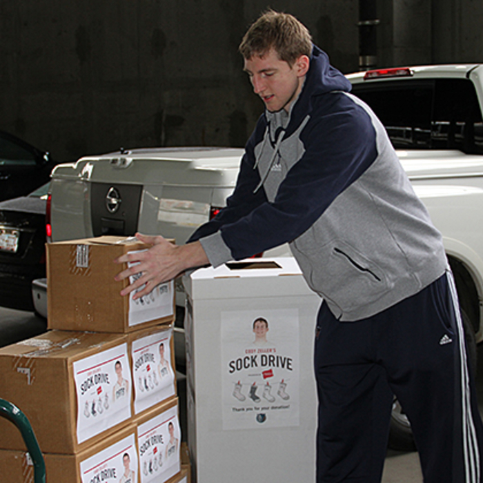 Cody Zeller Sock Delivery - 2/10/14