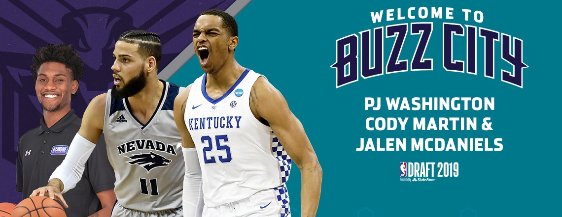 Hornets Select PJ Washington With The 12th Pick In The 2019 NBA Draft