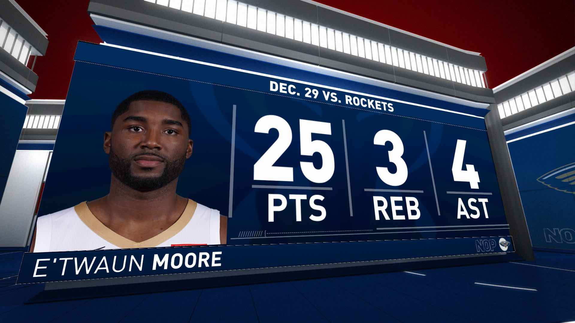 Highlights: E'Twaun Moore | Rockets vs. Pelicans