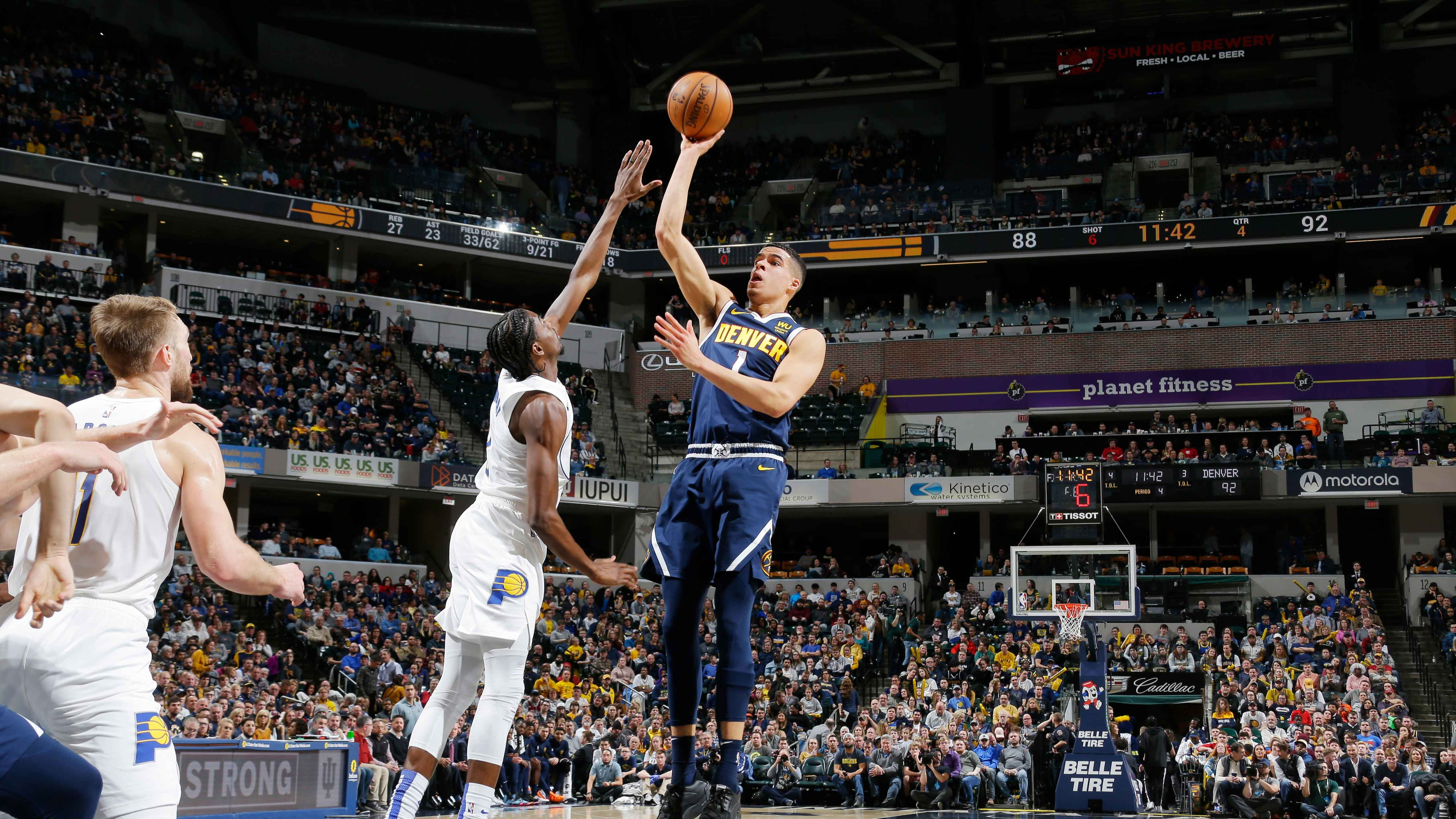 GAME RECAP:  Nuggets 124, Pacers 116