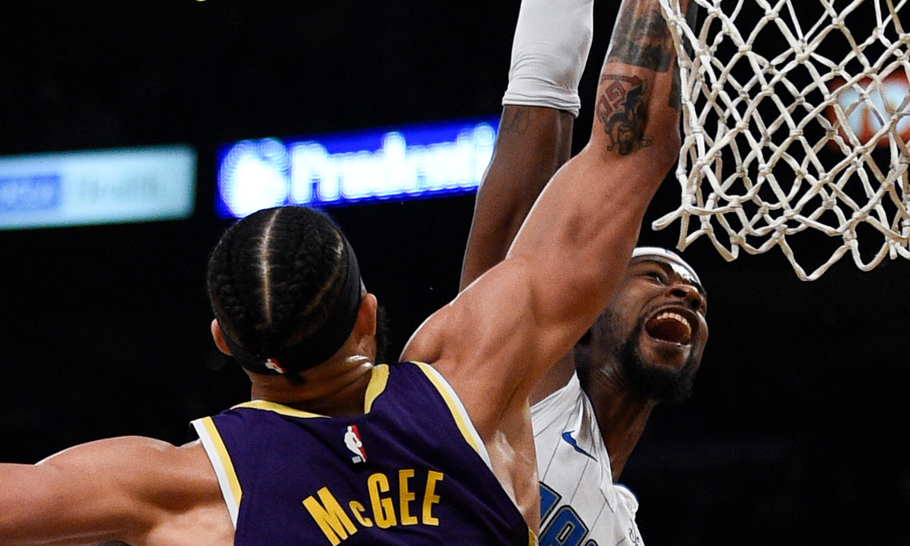 Must-See: JaVale McGee erases Terrence Ross' dunk attempt