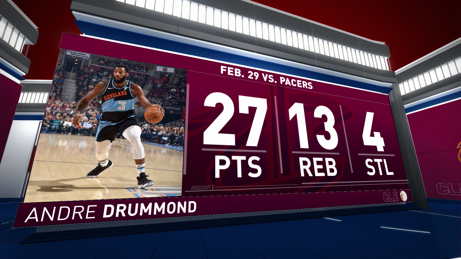 Highlights: Andre Drummond | Cavaliers vs. Pacers