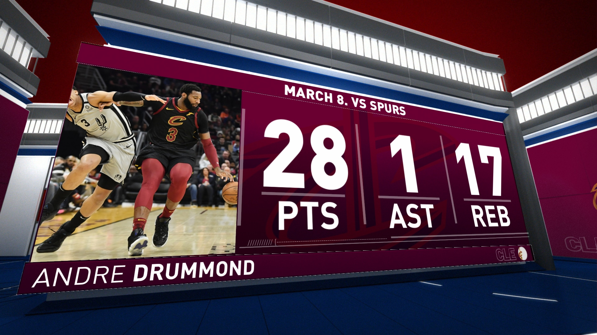 Highlights: Andre Drummond | Cavaliers vs. Spurs