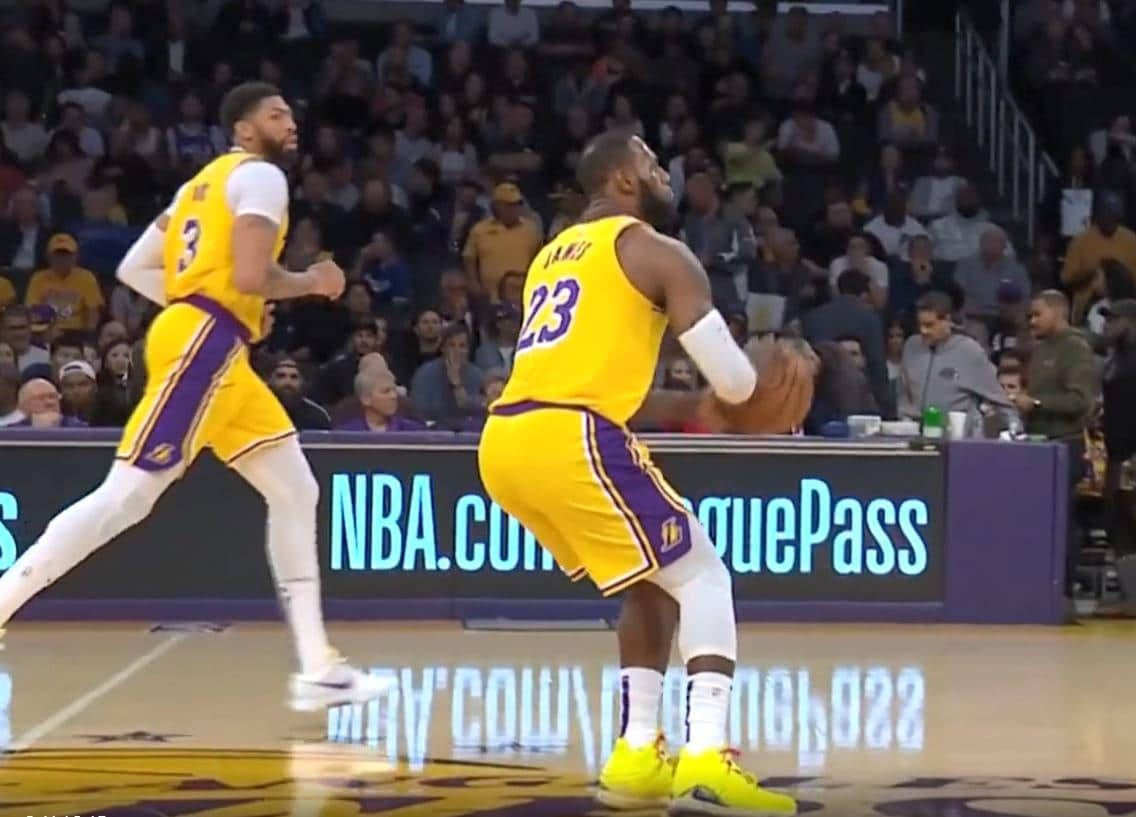 Must See: LeBron James nails a 3-pointer from the logo