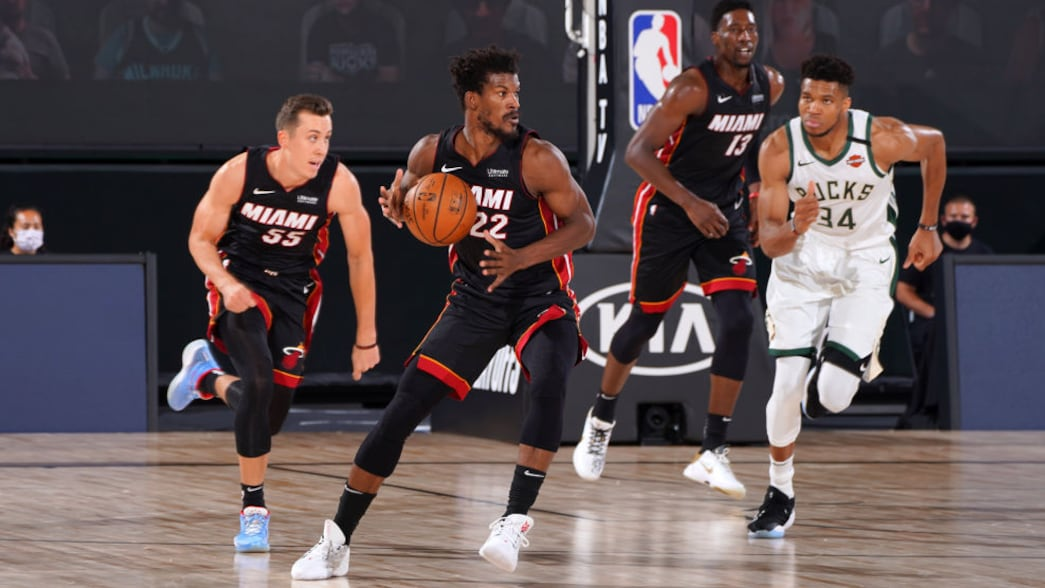 Fear The Deer Jimmy Butler Heat Stand Up With Strong Game 1 Nba Com