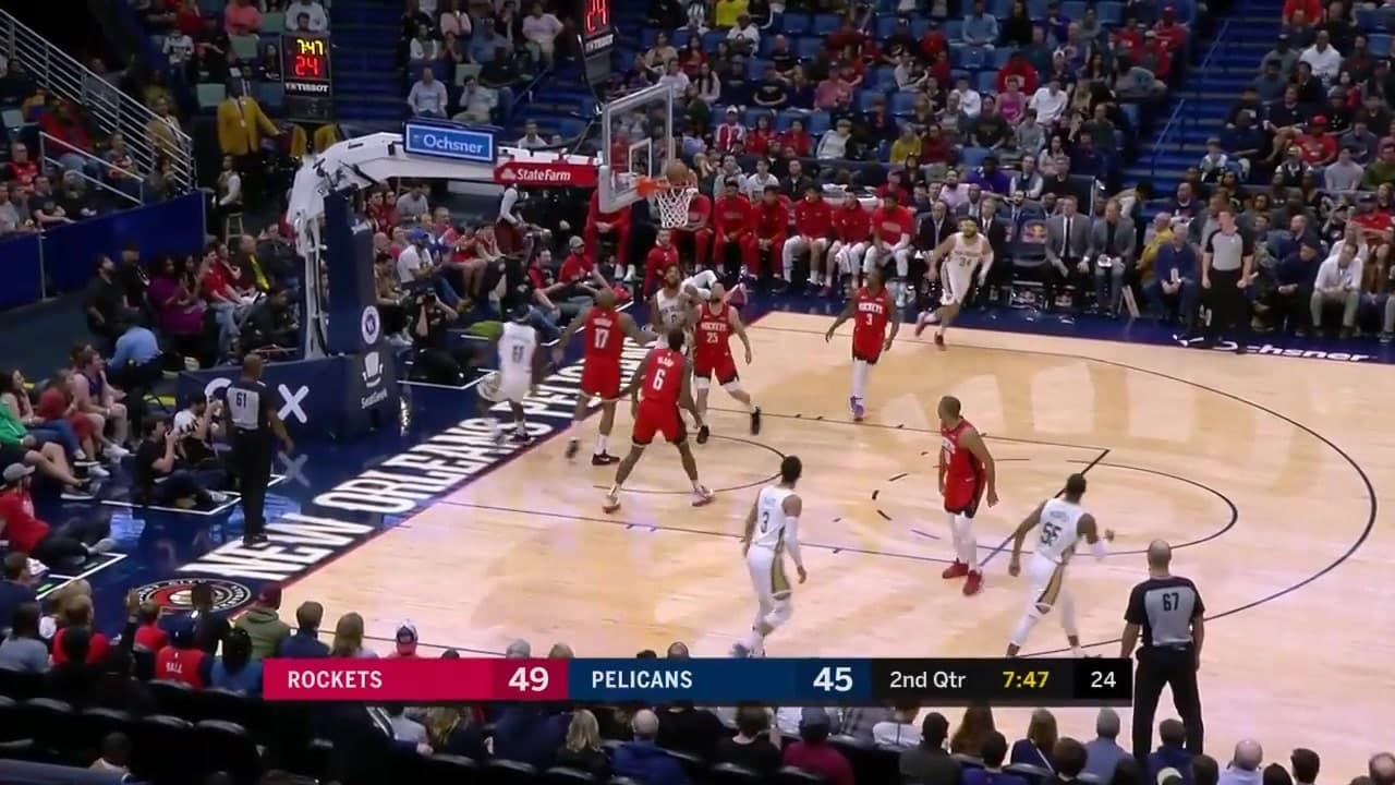 Pelicans vs. Rockets Highlights: Jrue Holiday spins in for the layup