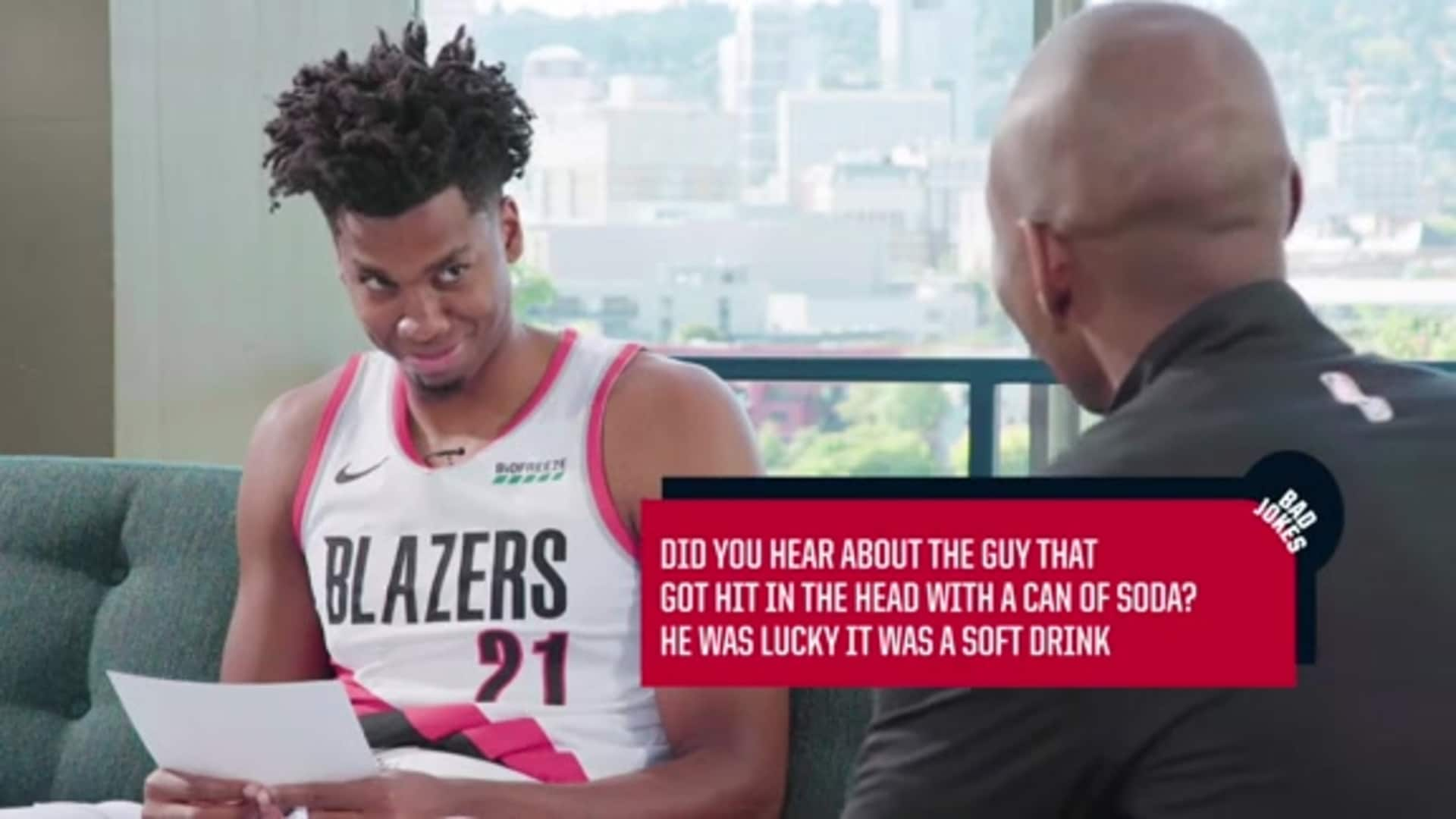 Trail Blazers tell their best bad jokes