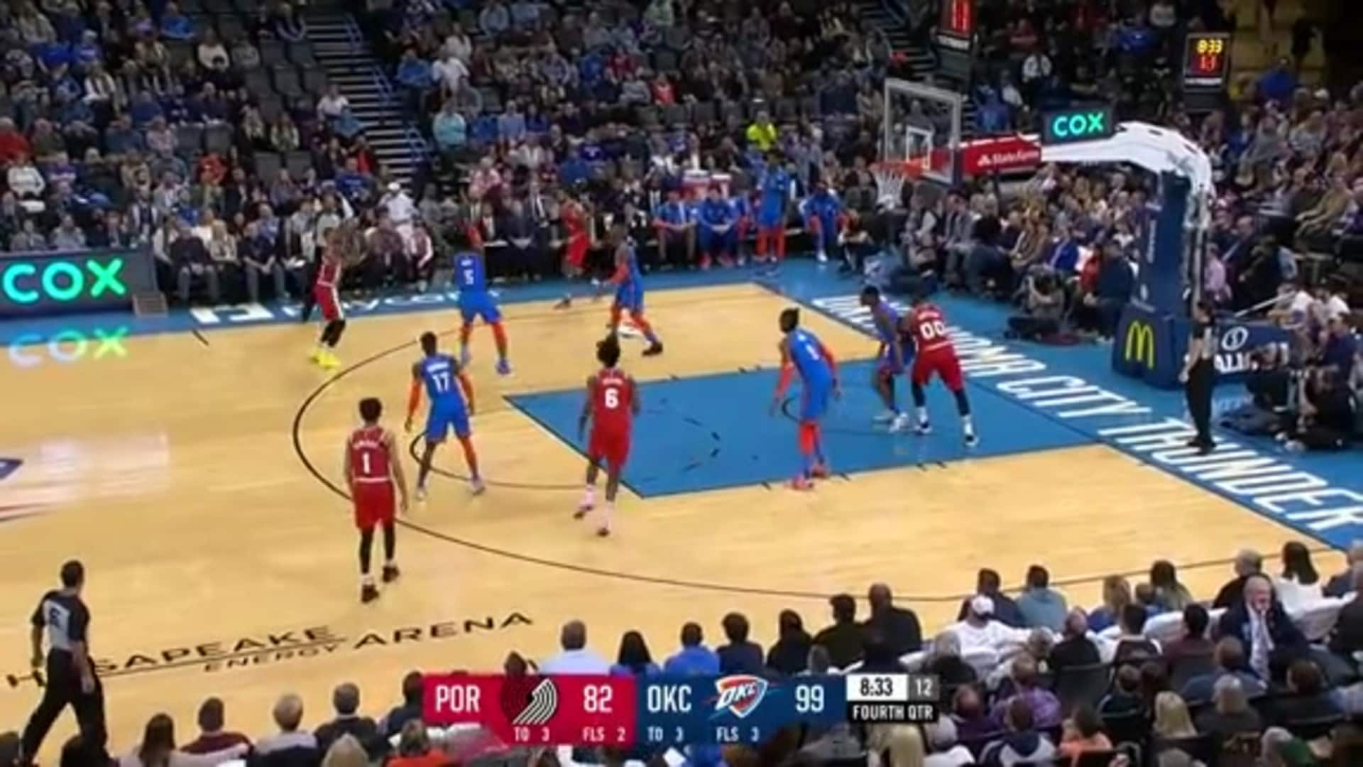 Damian Lillard (34 PTS, 6 AST) Highlights vs. Thunder