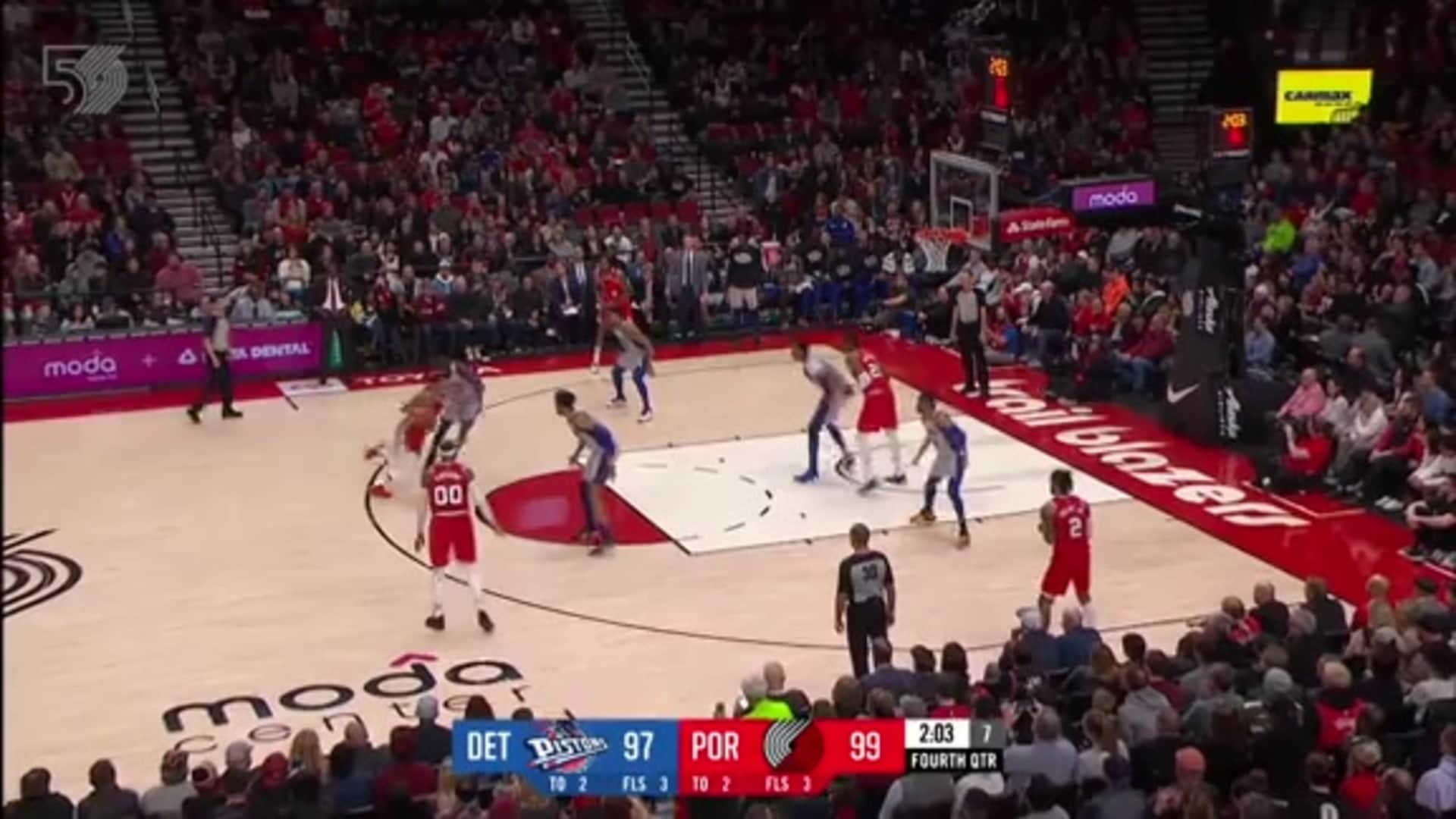 Portland 107, Detroit 104 | Game Highlights by McDelivery