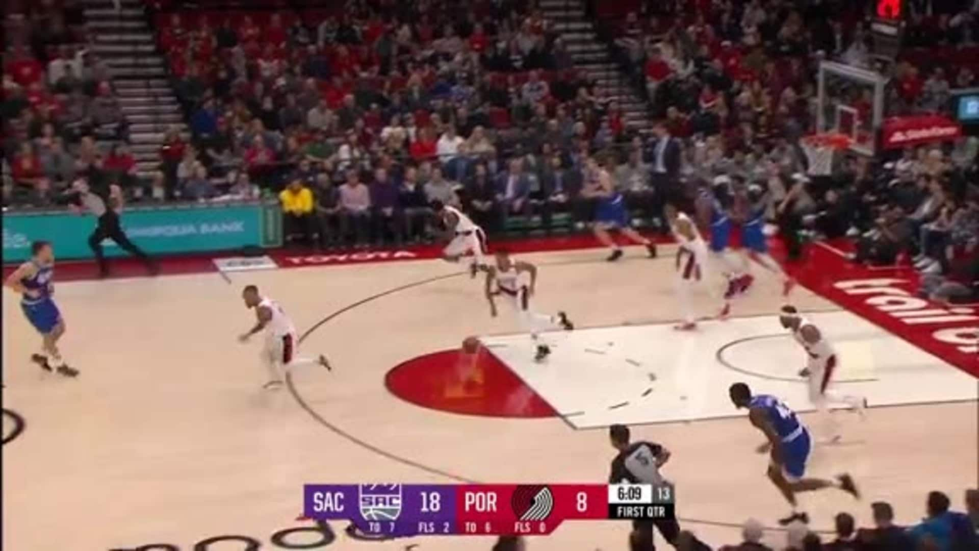 Beautiful ball movement leads to two points vs. Sacramento